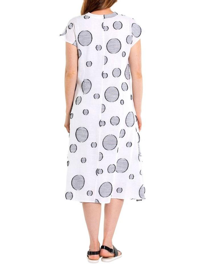 Short Sleeve Dobby Print Dress image 4