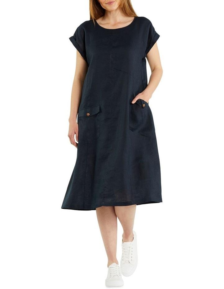 Panelled Linen Dress image 1