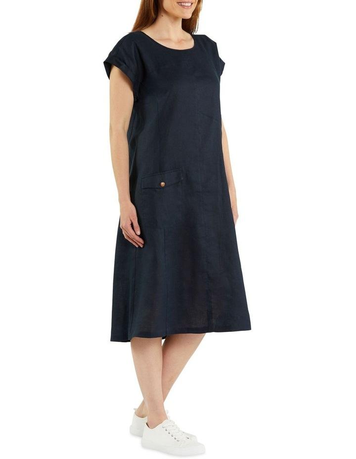 Panelled Linen Dress image 2