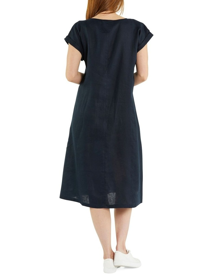 Panelled Linen Dress image 3