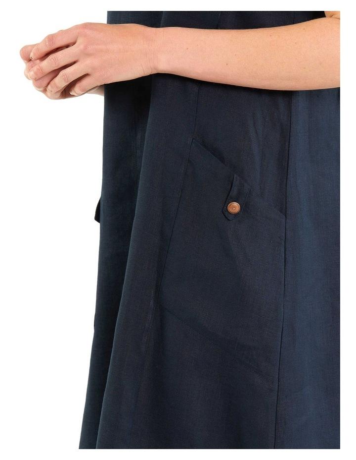Panelled Linen Dress image 4
