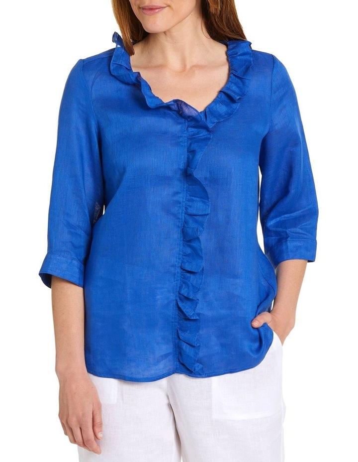 Essential Ruffle Linen Shirt image 1
