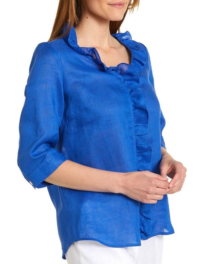 Essential Ruffle Linen Shirt image 2