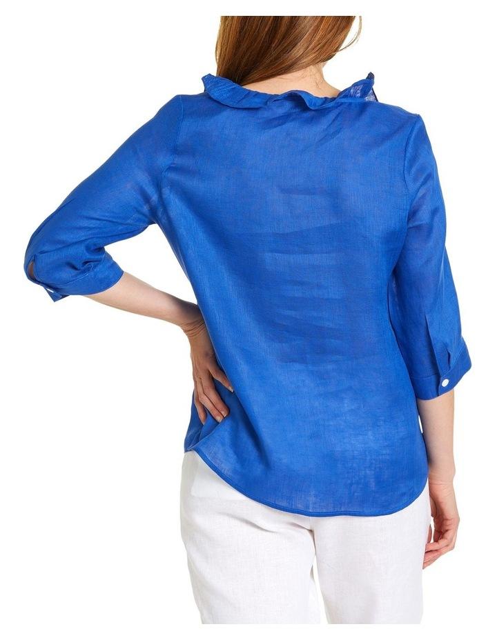 Essential Ruffle Linen Shirt image 3