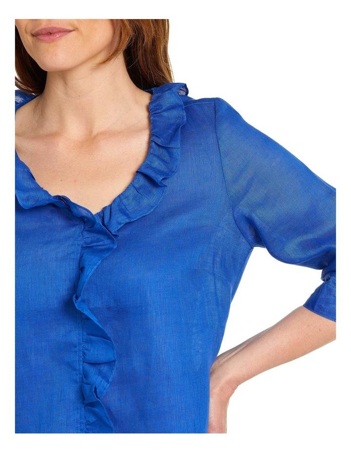 Essential Ruffle Linen Shirt image 4