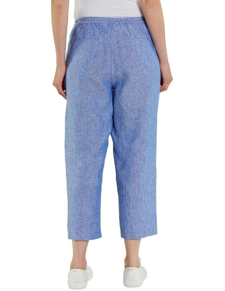 Cropped Crossdye Linen Pant image 3