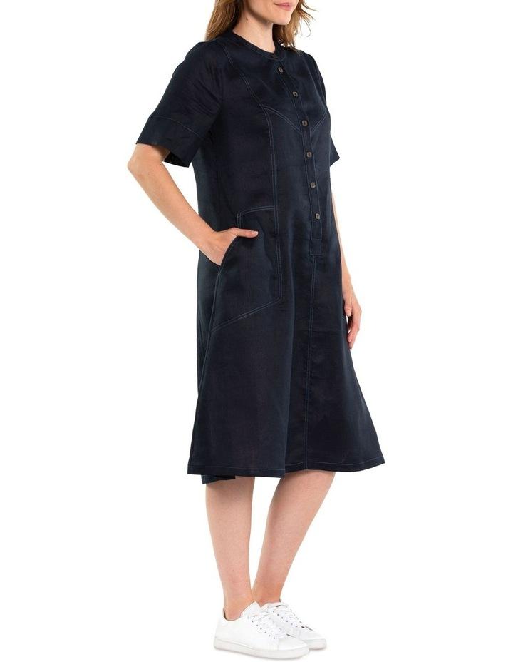 Contrast Stitch Linen Dress image 2