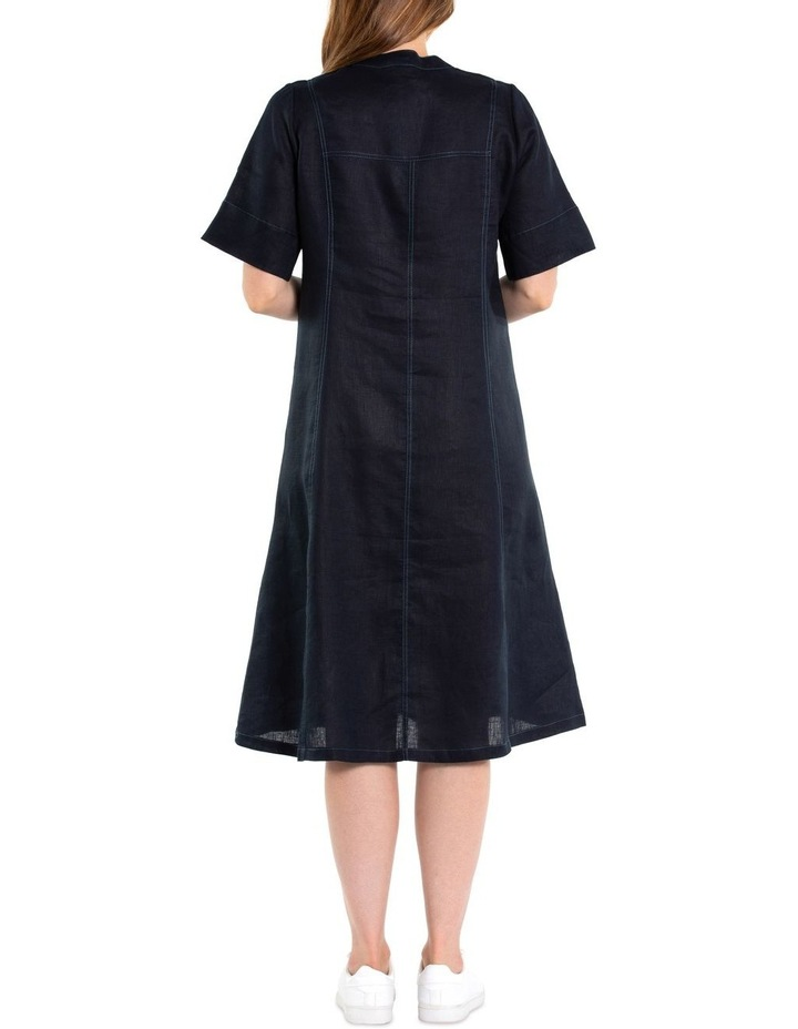 Contrast Stitch Linen Dress image 3