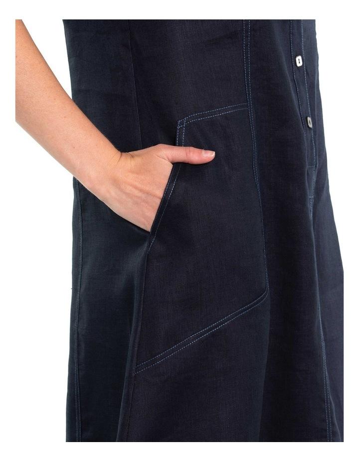 Contrast Stitch Linen Dress image 4