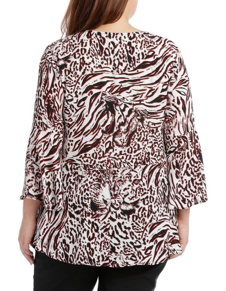 Tino Tiger Print Mid Season Sale Top image 3