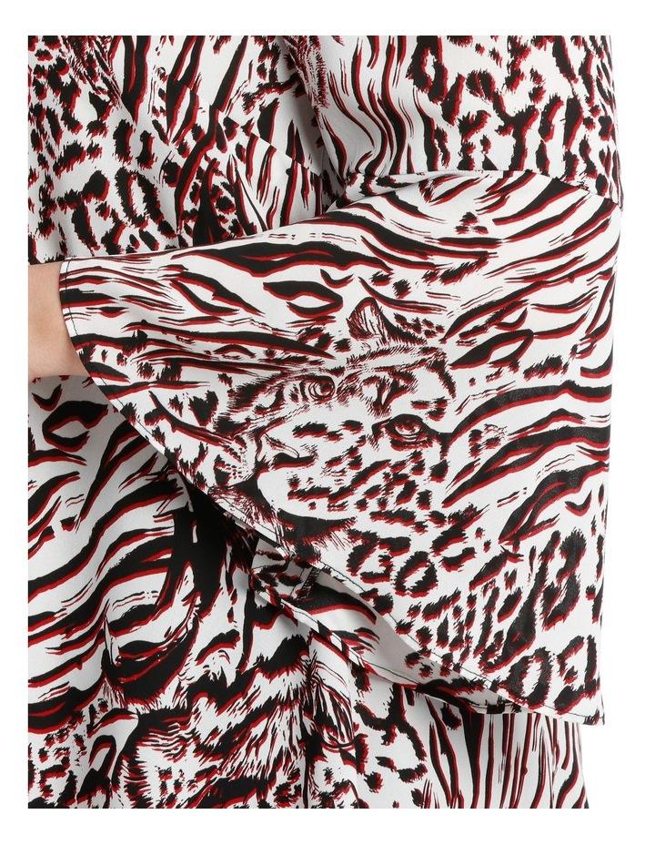 Tino Tiger Print Mid Season Sale Top image 4