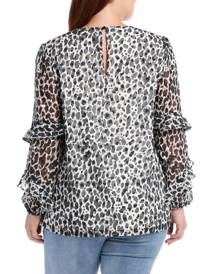 Wild Cheetah Frill Slv Top image 3