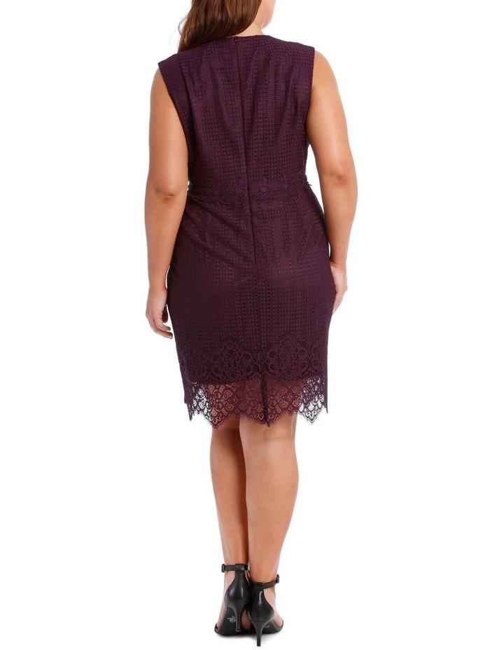 Bordeux Eyelet Lace Dress image 3