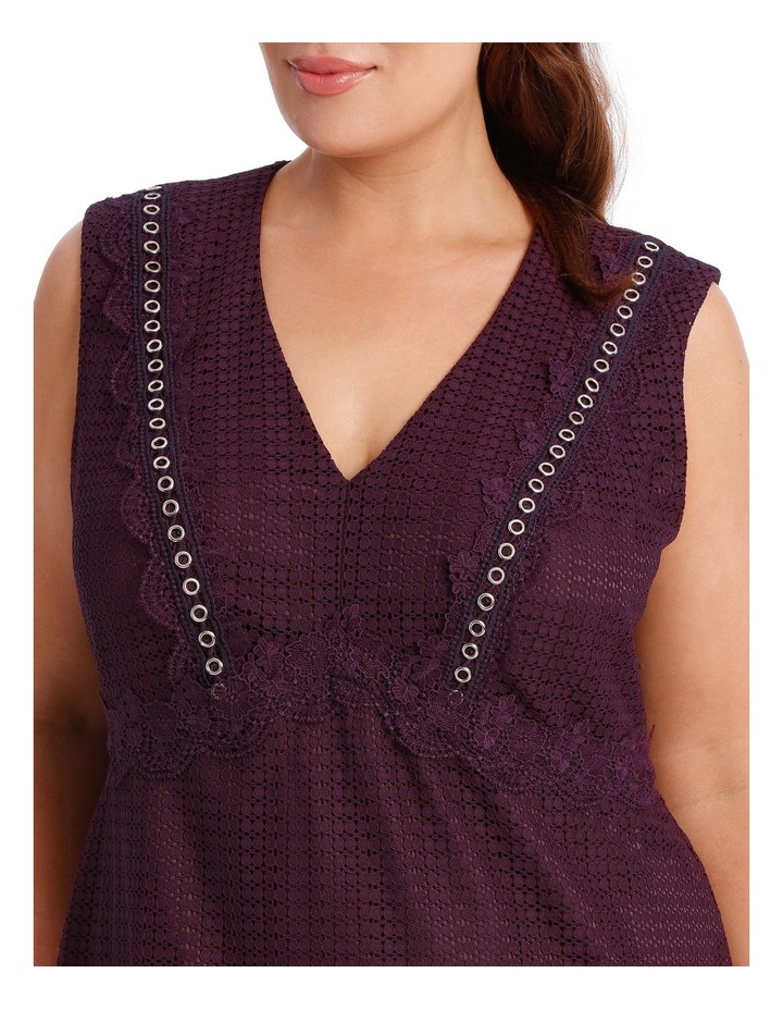 Bordeux Eyelet Lace Dress image 4
