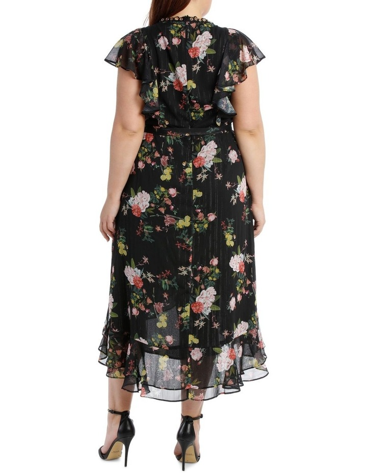 Black Mystique Wrap Midi Dress image 3