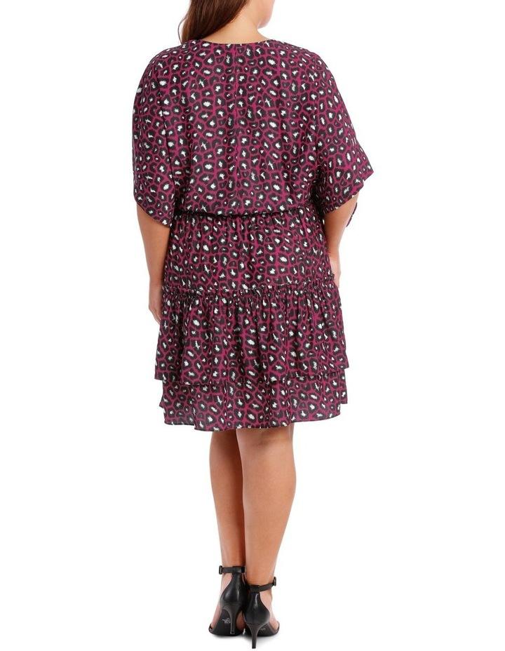 Fuschia Leopard Kimono Dress image 3