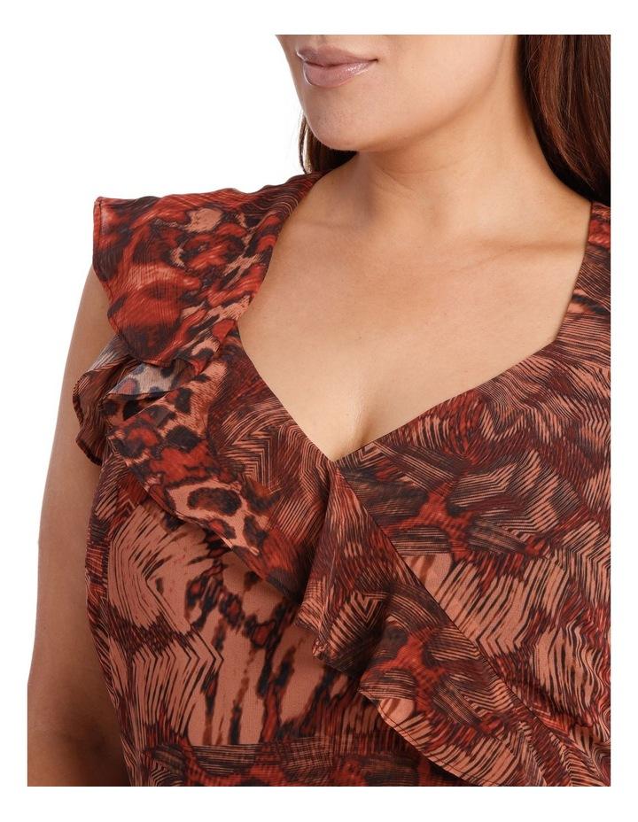Phoenix Ruffle Print Dress image 4