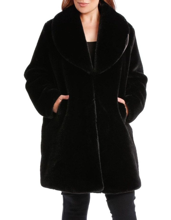 Shawl Collar Black Coat image 1