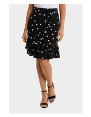 Hi There From Karen Walker - Spot Ruffle Skirt