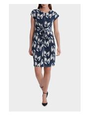 Leona by Leona Edmiston - Crane Mirage Tie Front Dress