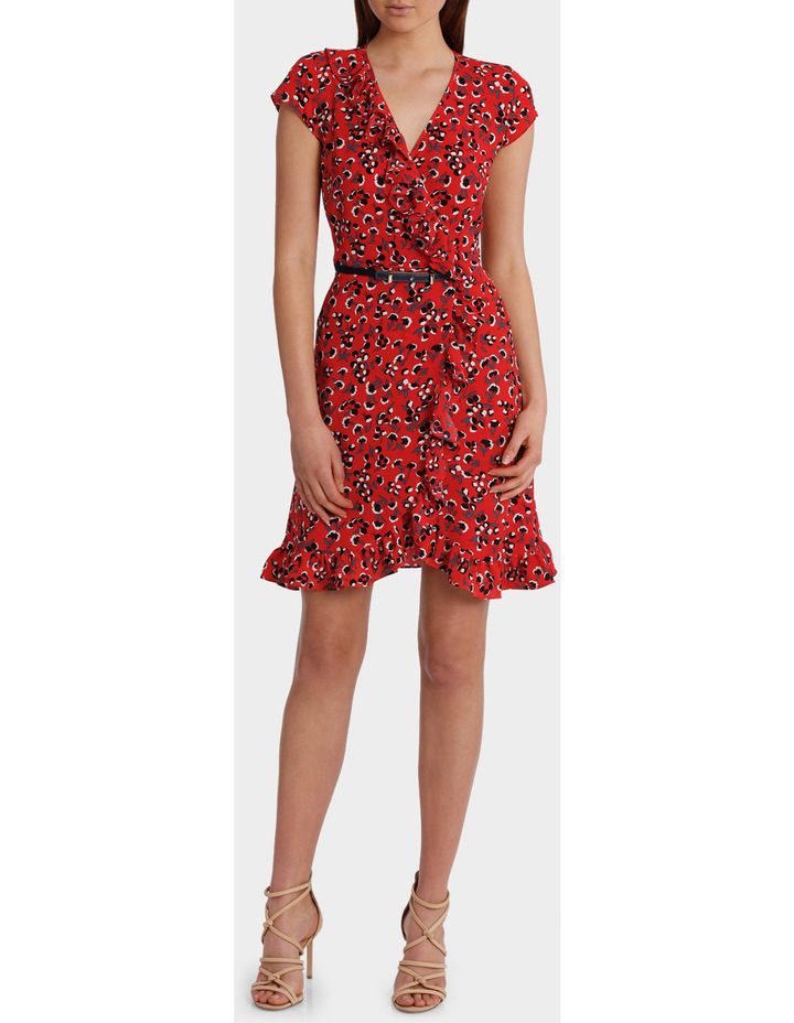 Red Baby Berry Print Ruffle Dress image 1