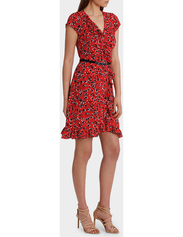 Red Baby Berry Print Ruffle Dress image 2