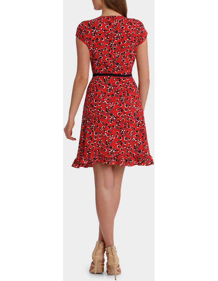 Red Baby Berry Print Ruffle Dress image 3