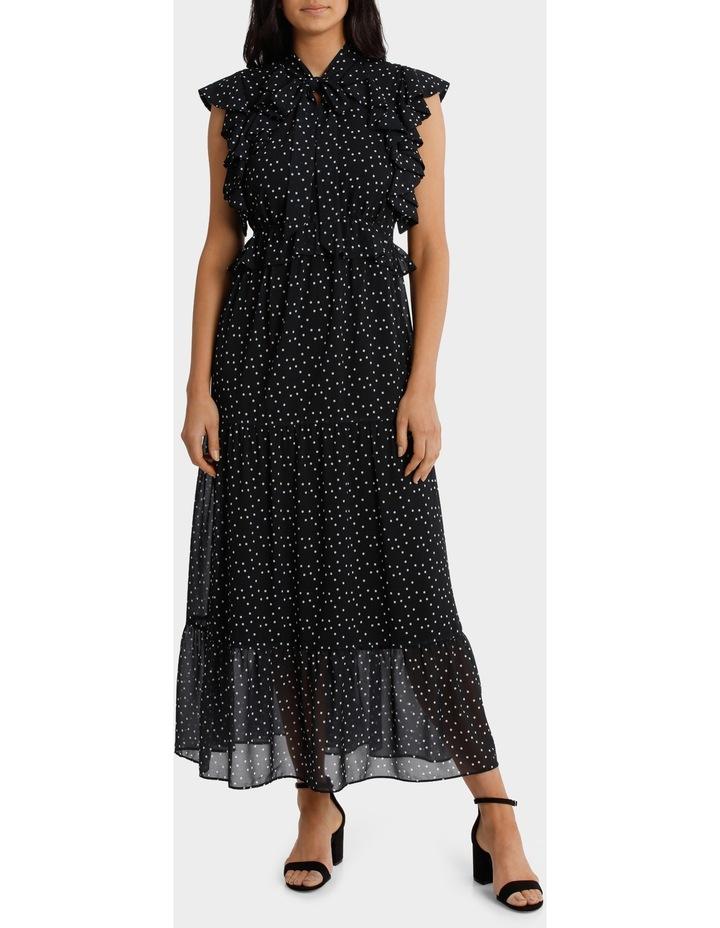 Ruffle Spotted Midi Dress image 1