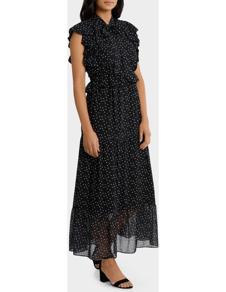 Ruffle Spotted Midi Dress image 2