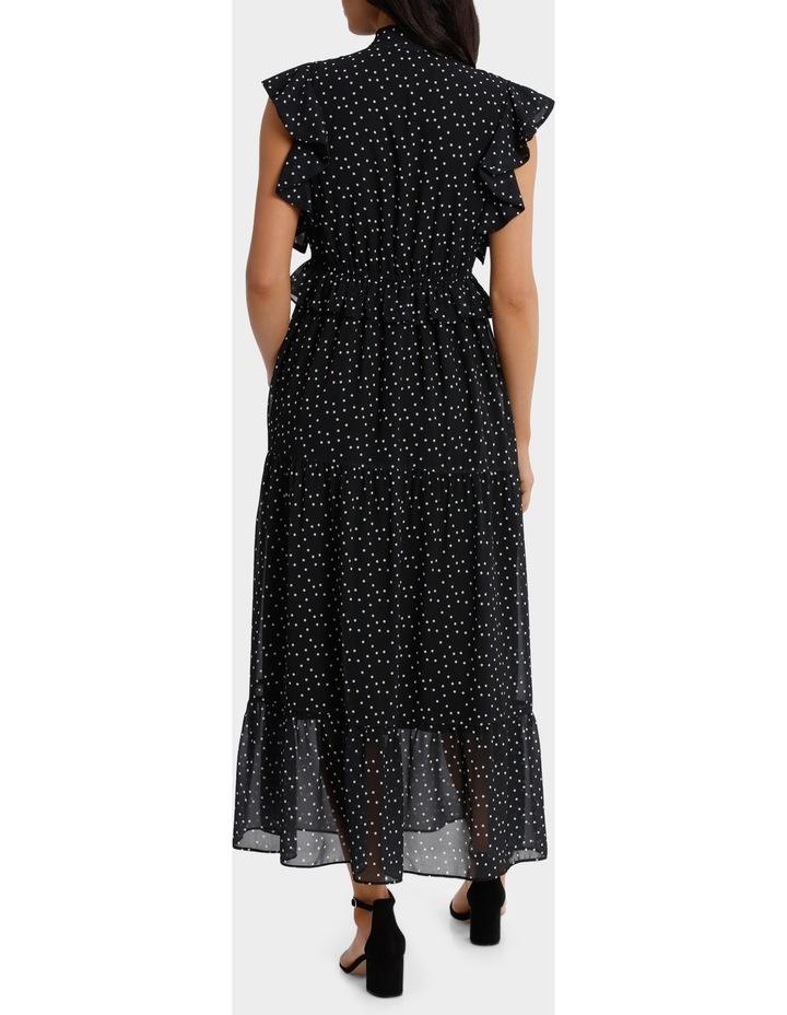 Ruffle Spotted Midi Dress image 3