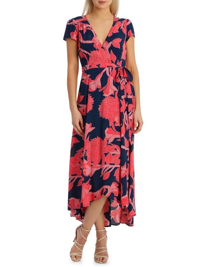 Wrap Frill Sleeve Dress image 1