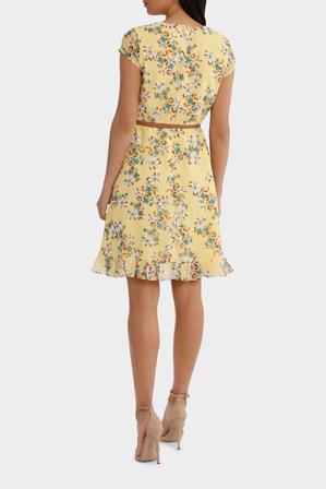 Hi There From Karen Walker - Buttercup Daisy Fields Print Ruffle Dress