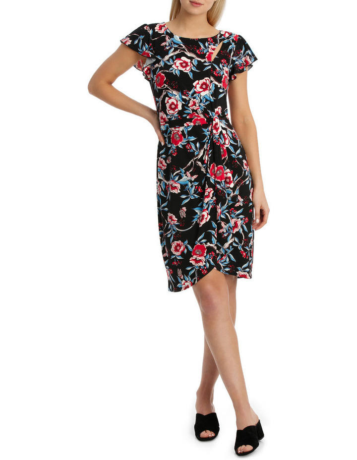 Keyhole Frill Sleeve Dress image 1