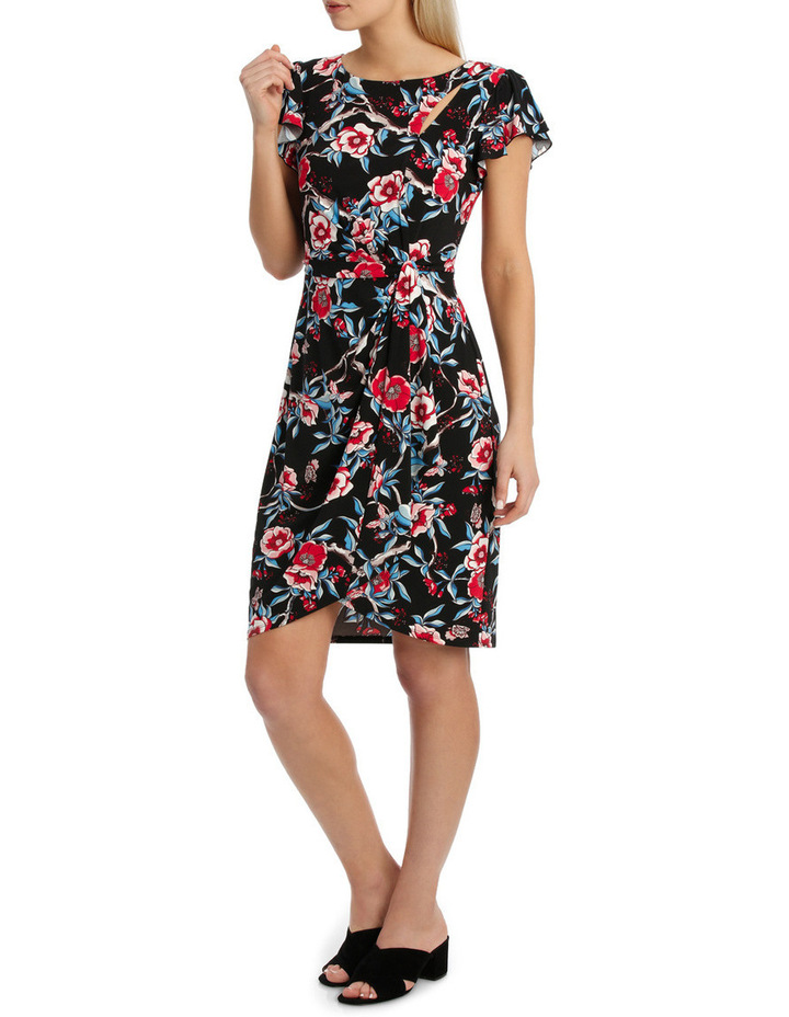 Keyhole Frill Sleeve Dress image 2