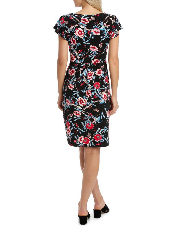 Keyhole Frill Sleeve Dress image 3