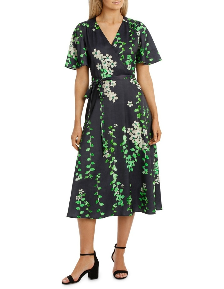 Black Vine Wrap Dress image 1