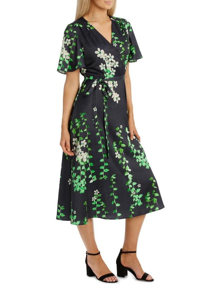 Black Vine Wrap Dress image 2