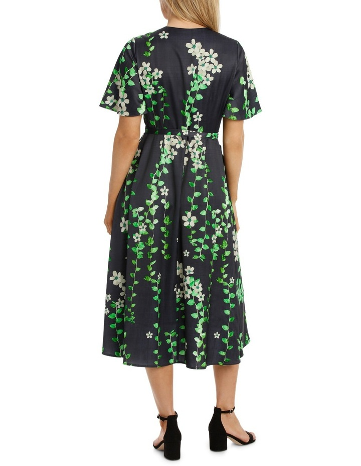 Black Vine Wrap Dress image 3
