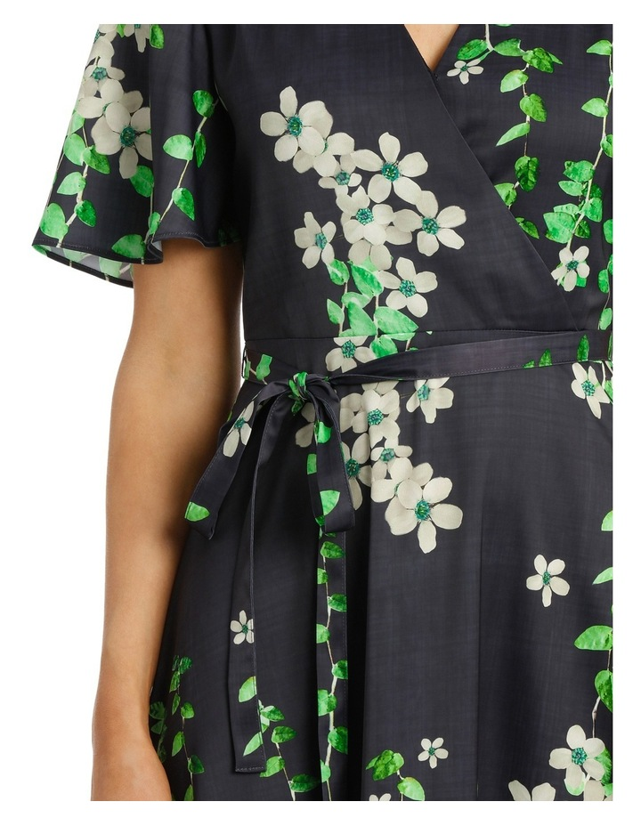 Black Vine Wrap Dress image 4