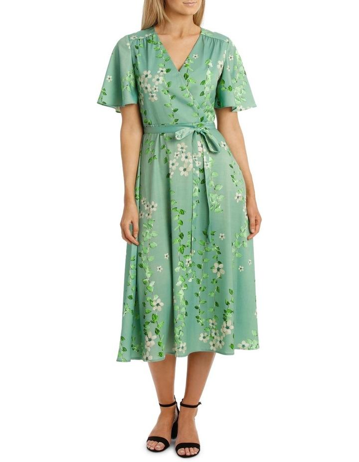 Mint Vine Wrap Dress image 1