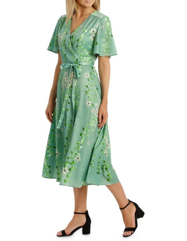 Mint Vine Wrap Dress image 2
