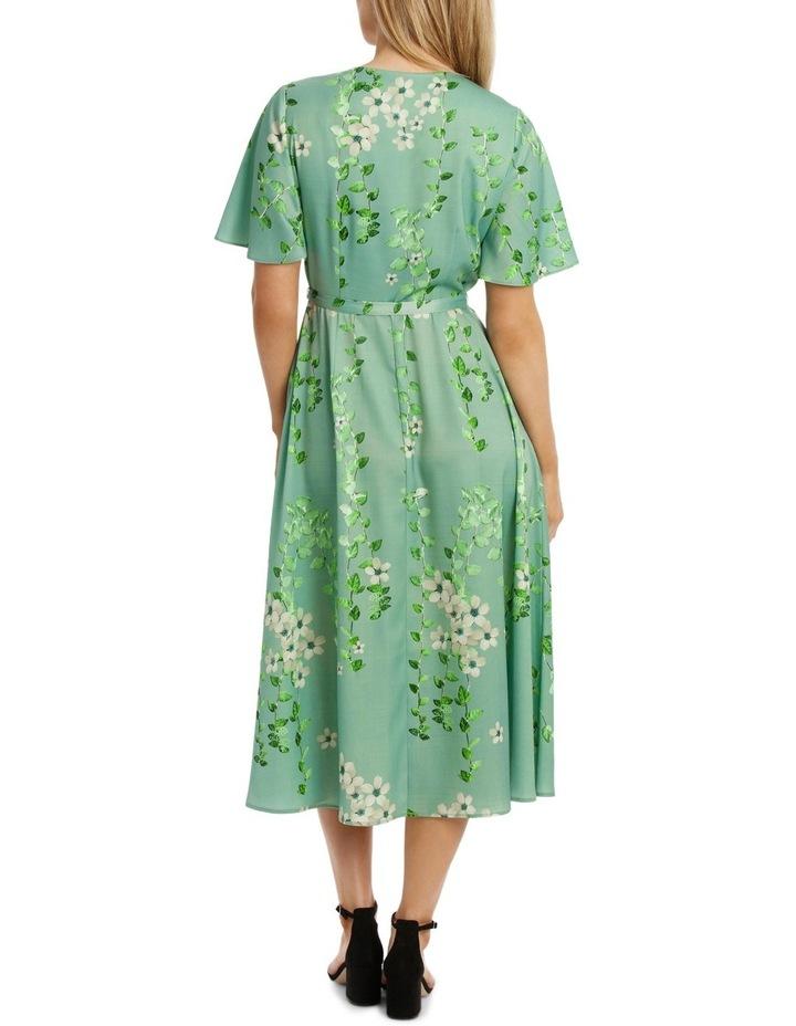 Mint Vine Wrap Dress image 3