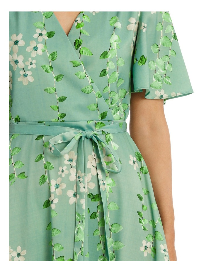 Mint Vine Wrap Dress image 4