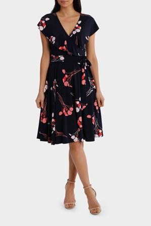 Leona by Leona Edmiston - Wild Cherry Frill Swing Dress