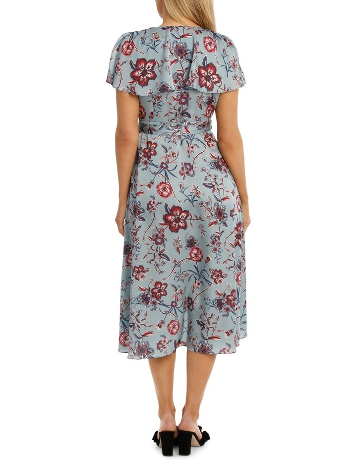 Winter Floral Flutter Sleeve Wrap Dress image 3