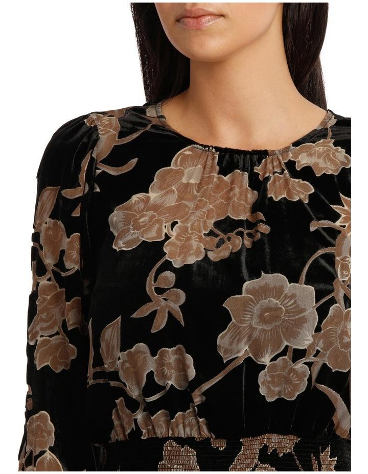 Ecru Velvet Burnout Midi  Dress image 4