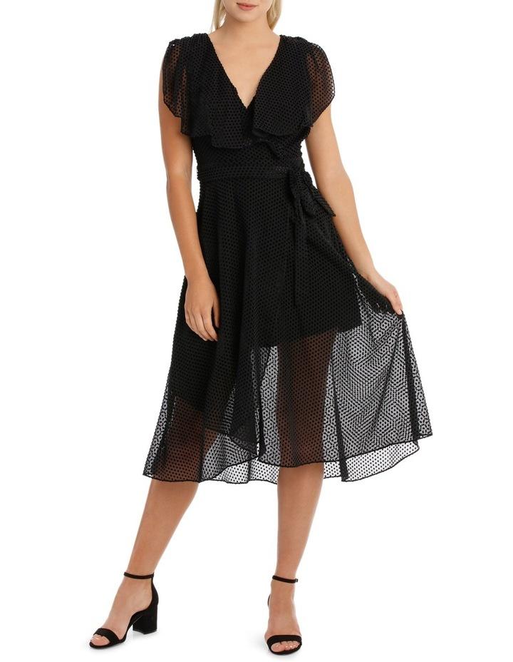 Black Dobby Burnout Dress image 1