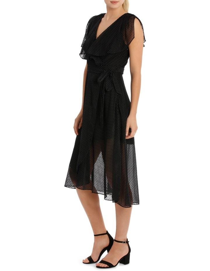 Black Dobby Burnout Dress image 2