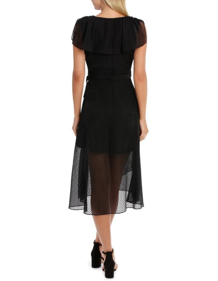 Black Dobby Burnout Dress image 3
