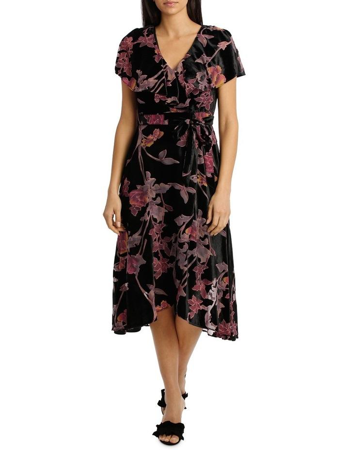 Burnout Pansy Wrap Midi Dress image 1